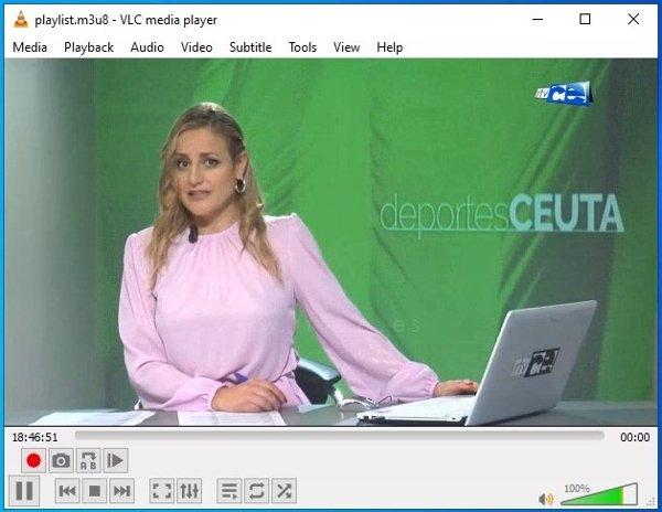 Broadcast of a TV stream via VLC