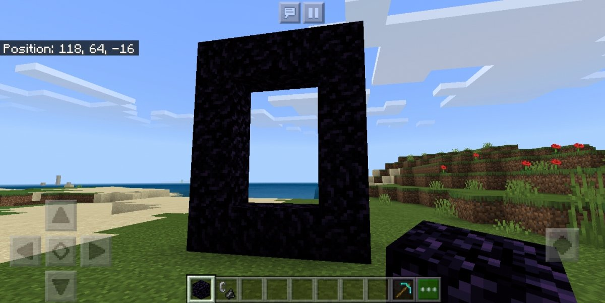 Construye la estructura del portal al Nether