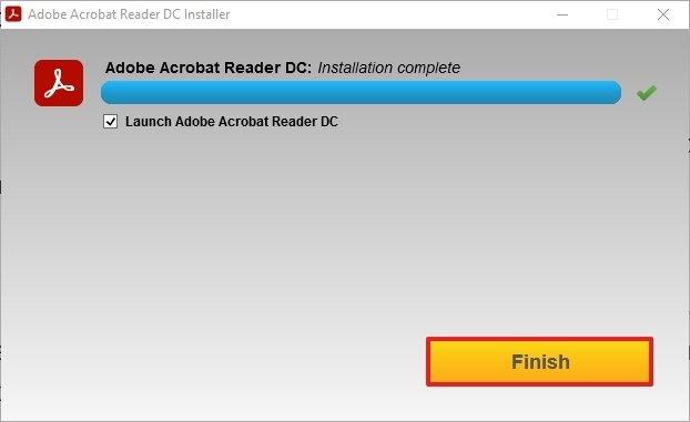 Adobe Acrobat Reader installé