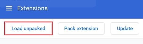 Button to download extensions in Chrome