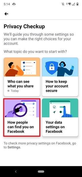 Controllo della privacy del profilo