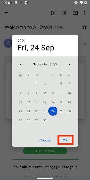 Escoger fecha