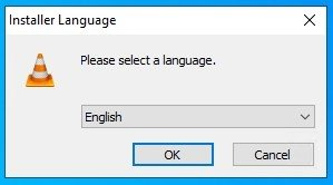 Choose the language of the VLC installer