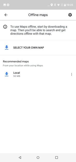 Elige el mapa a descargar