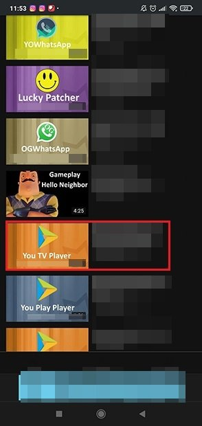 Choose the video to download