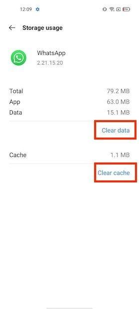 Effacer le cache et les données