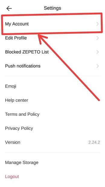 delete akun zepeto