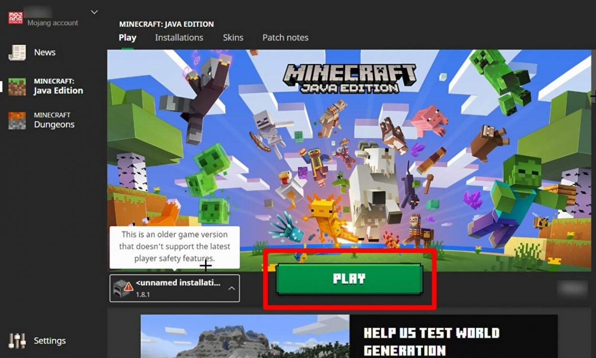 Haz click en Play