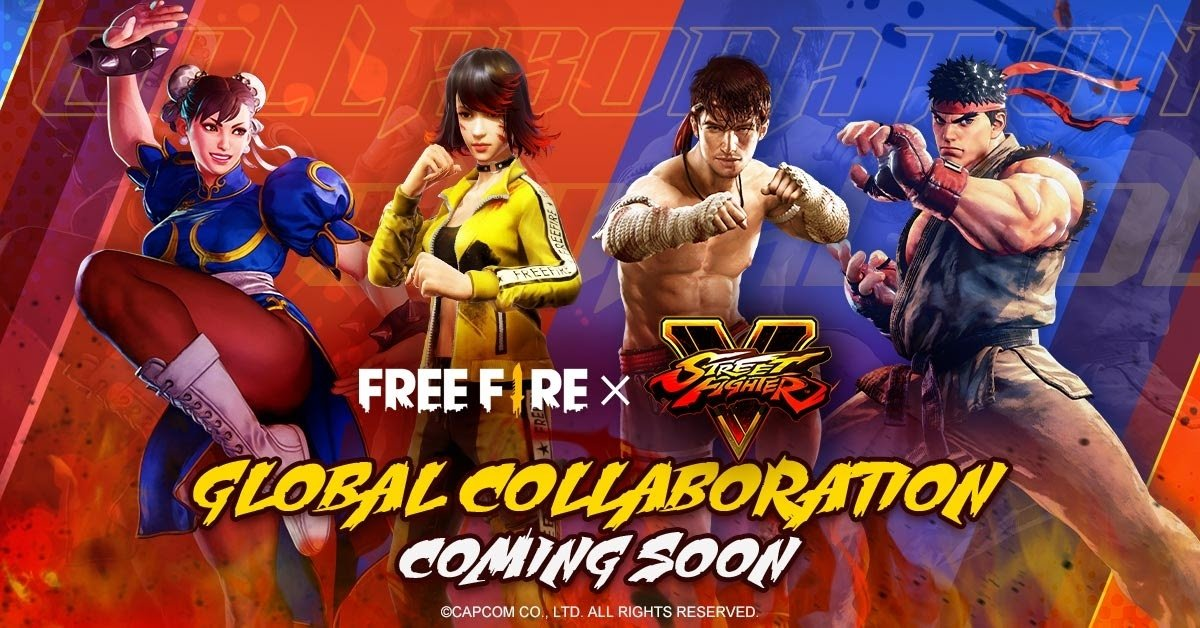 Collaboration between Free Fire and Street Fighter