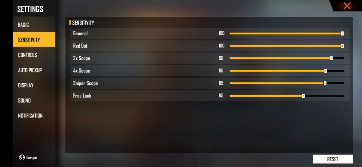 Configuration for pro players