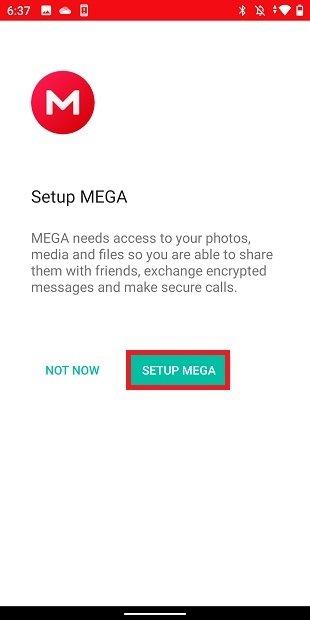 Configurar MEGA