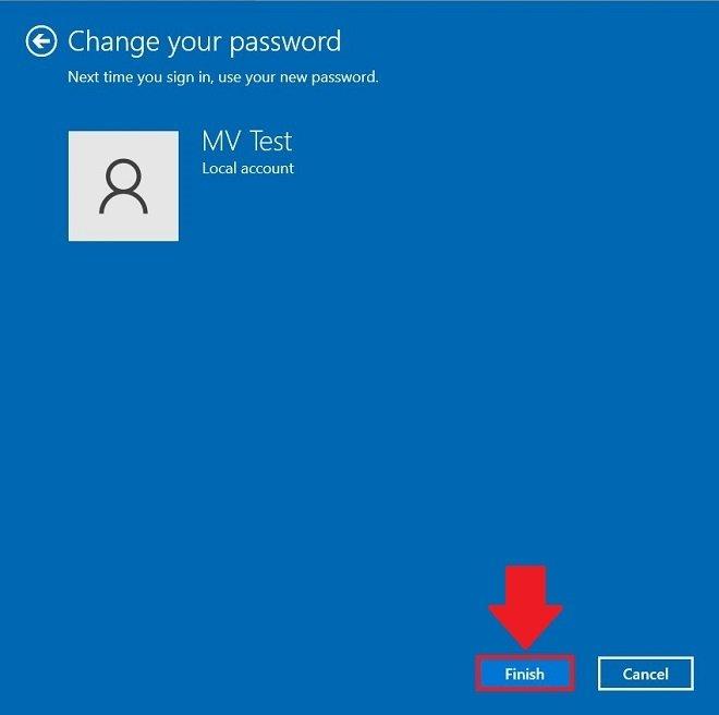 新しいパスワードを承認