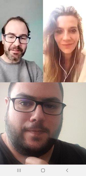 Videollamada a participantes de un grupo conectada