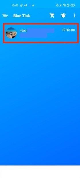 Conversaciones en Blue Tick