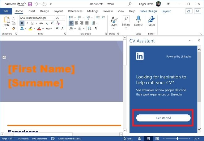 Create a CV from your LinkedIn profile