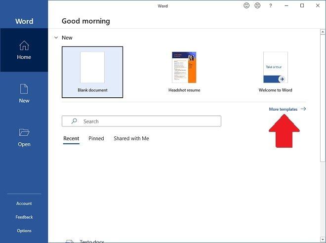 Crear un documento a partir de una plantilla