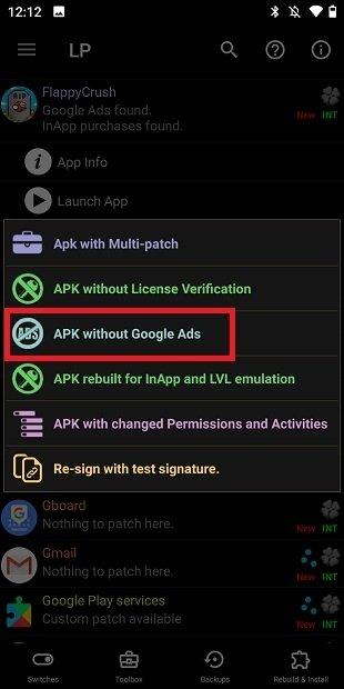 Crear APK sin anuncios