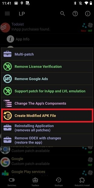 Crear APK modificado