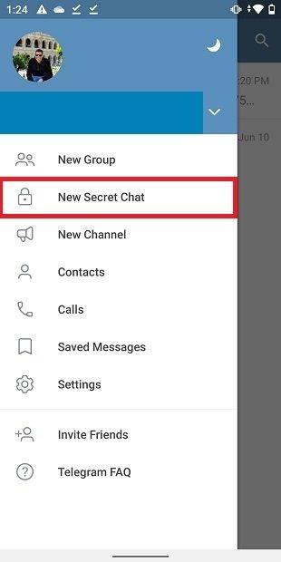 Crear chat secreto