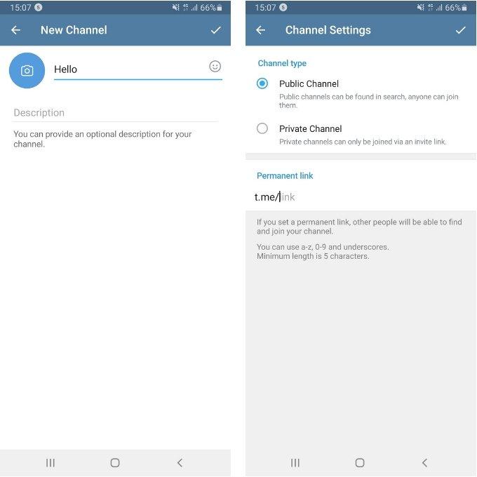 Creando un canal en Telegram