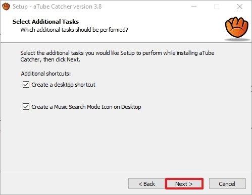 Creación de accesos directos de aTube Catcher