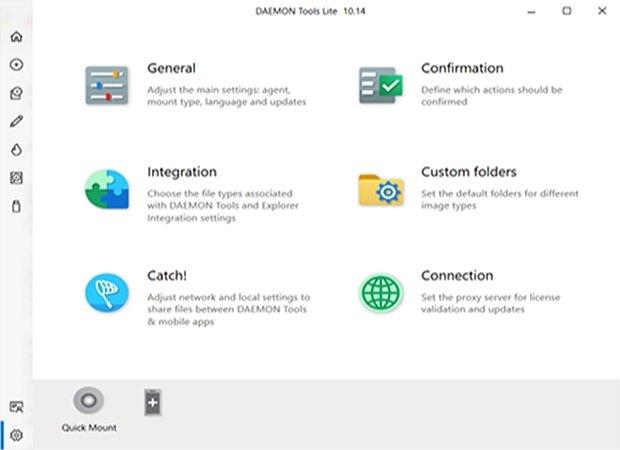 Page d'accueil de Daemon Tools