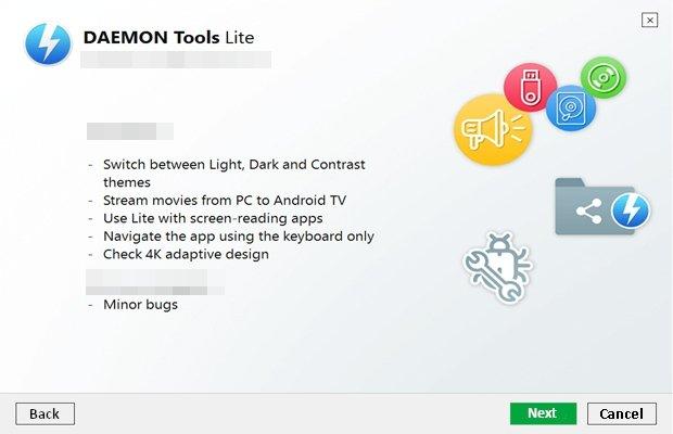 Nouveautés de Daemon Tools