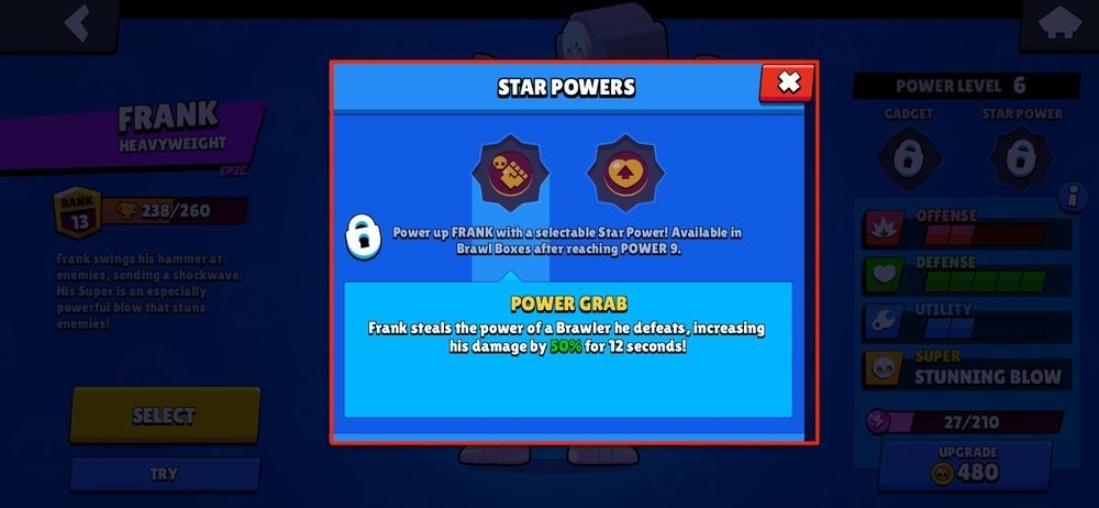 Description of the star powers
