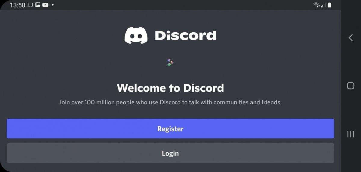 Discord's registration or login form