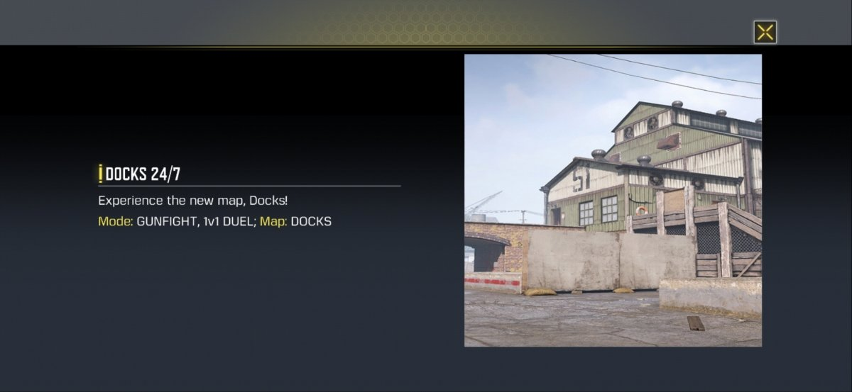 Docks 247, one of the temporary game modes