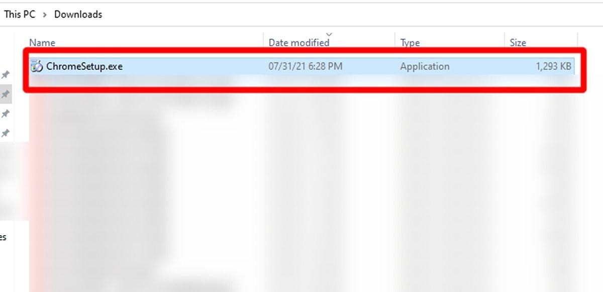 Дважды щелкните ChromeSetup, чтобы запустить установщик
