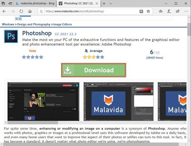 Descargar Photoshop en Malavida