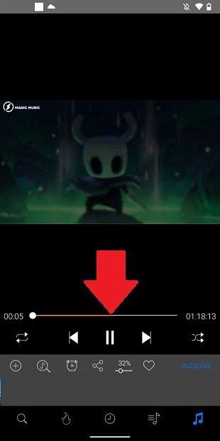 Progreso de la descarga del vídeo en cache
