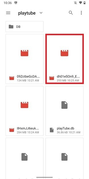 Downloaded videos on cache