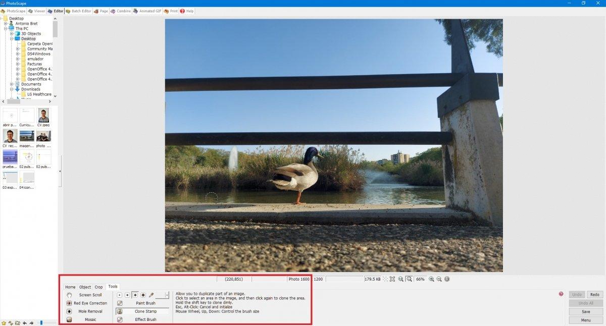 Editing tools viewer