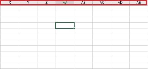 Identificadores de Excel más allá de la Z