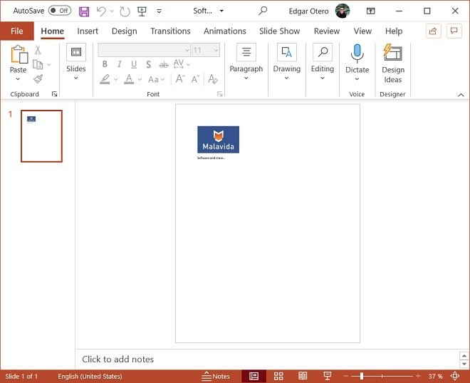 File converted to PowerPoint