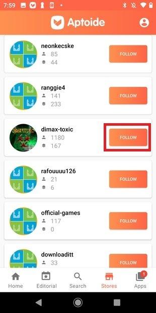 Follow an app store