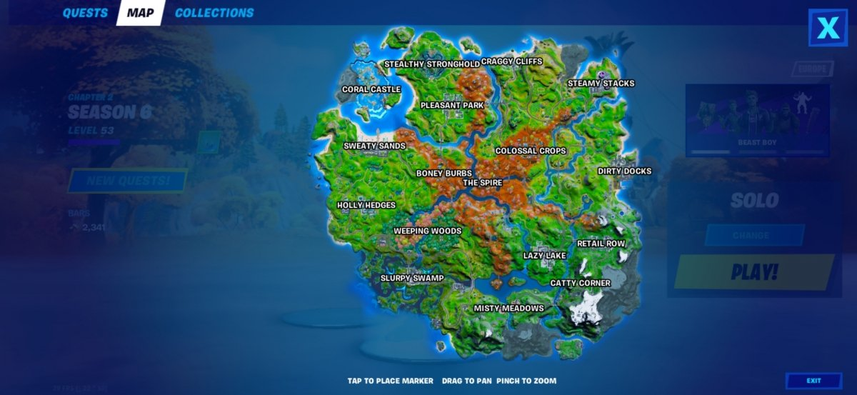 Mapa de Fortnite