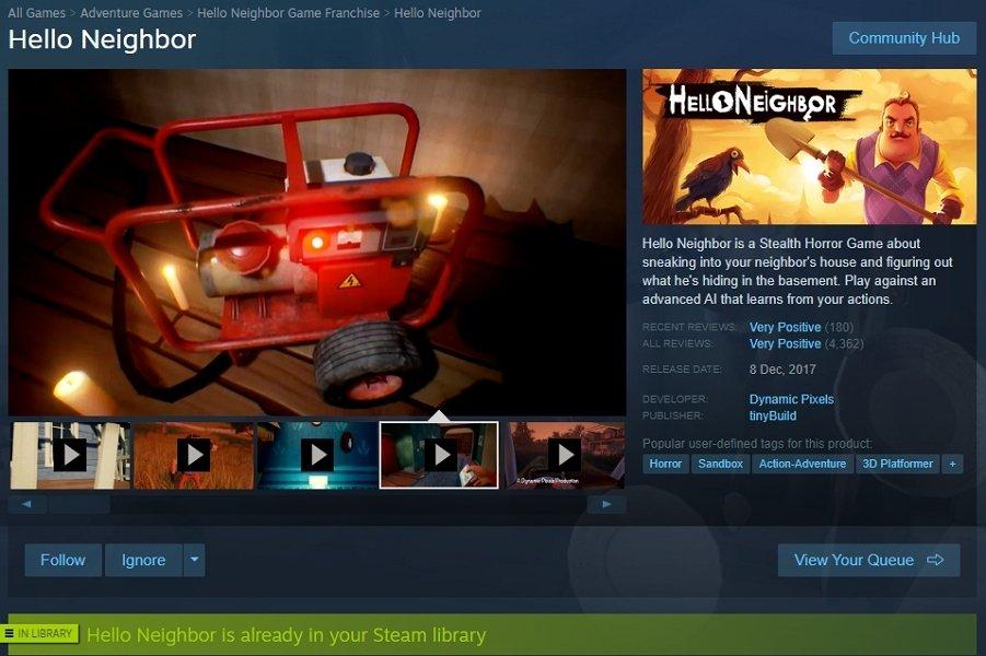 Página del juego en Steam