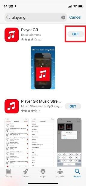 Obtener Player GR desde la App Store