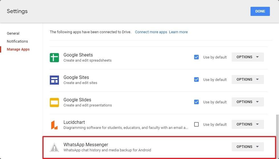 Google Drive-Anwendungen