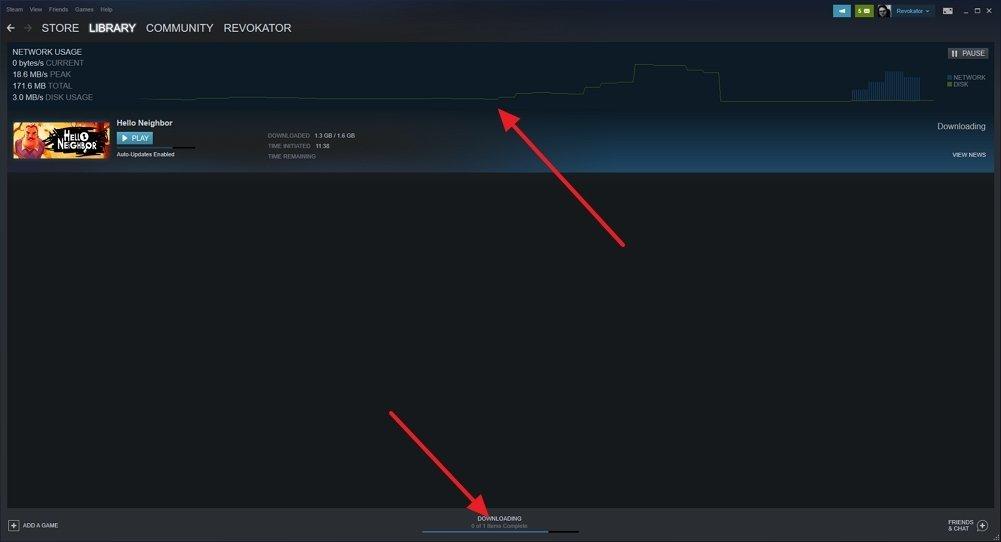 Página de instalación de Hello Neighbor en Steam