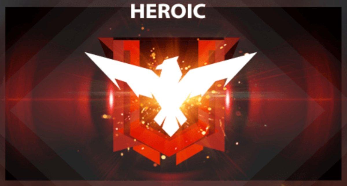 Rang Héroïque, la plus haute catégorie de Free Fire