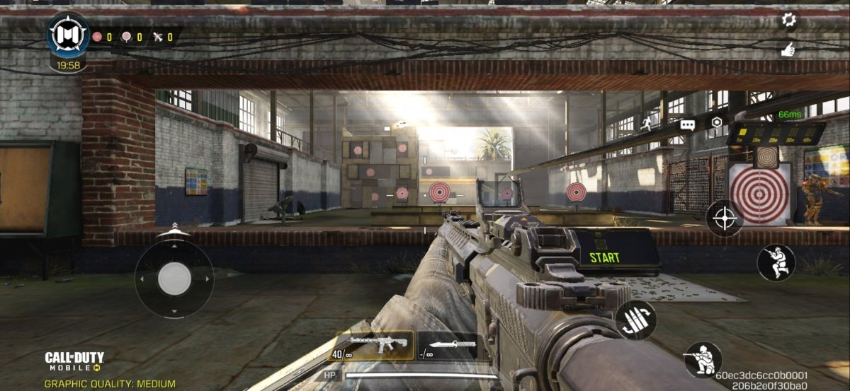 In the Practice mode there are several targets to shoot at