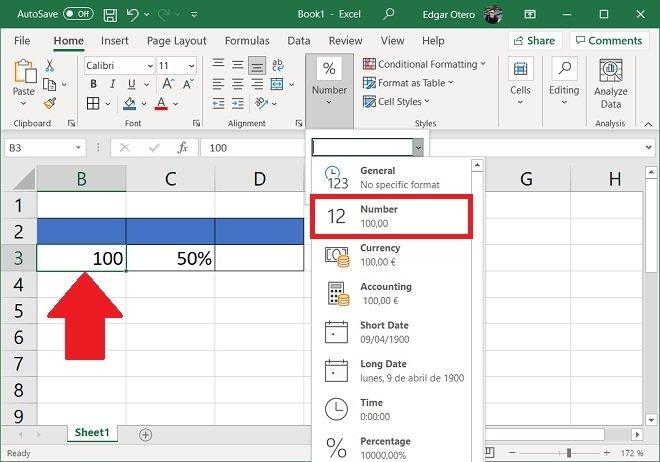 Indicar a Excel el contenido de la celda