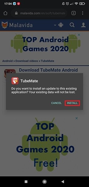 Install the application