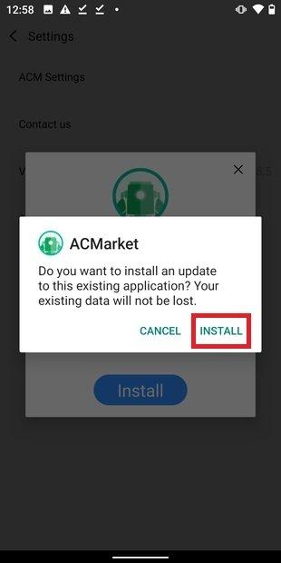 Instalando actualización