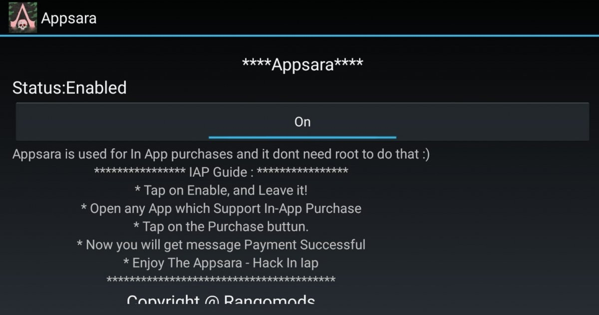 Interfaz de AppSara para Android