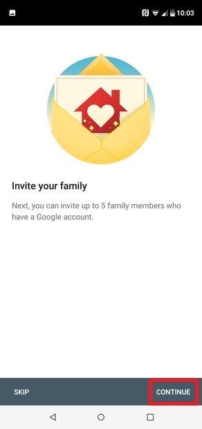Invita a miembros de tu familia